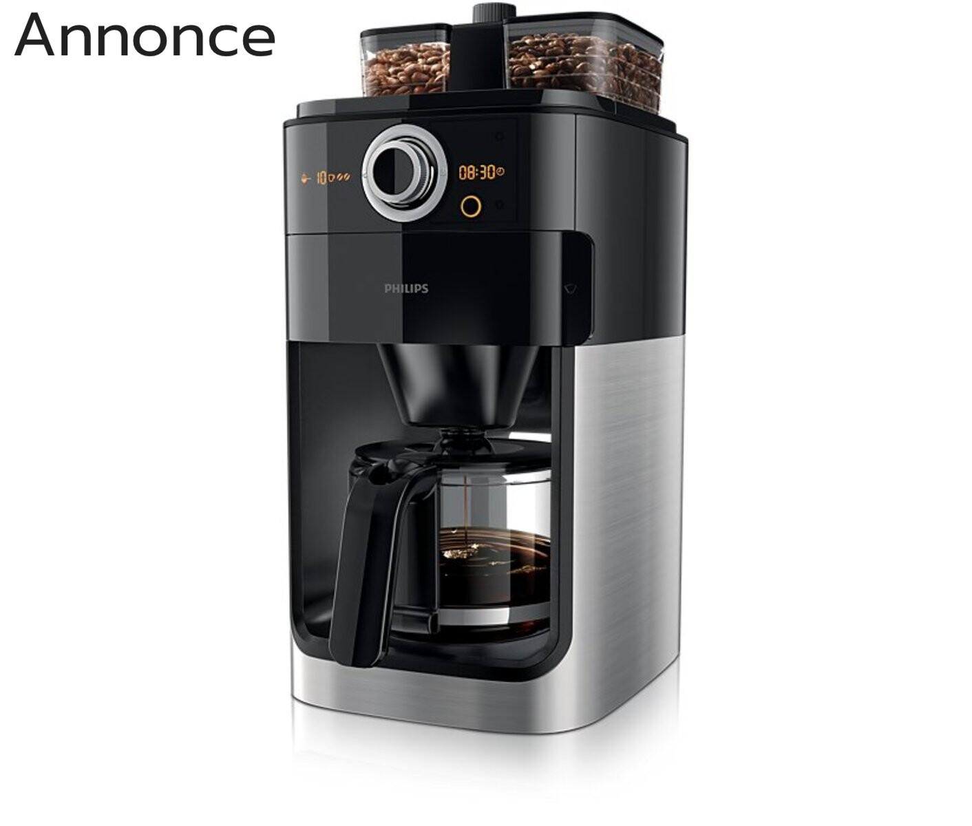 kaffemaskine med kværn