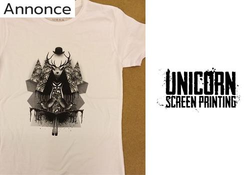 Skal du have lavet tryk på tøj? Unicorn Screen Printing klarer ærterne